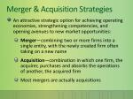 merger acquisition strategies