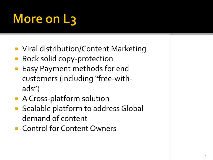 More on L3