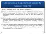 assessing supervisor liability under title vii