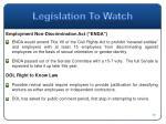 legislation to watch