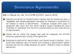 severance agreements