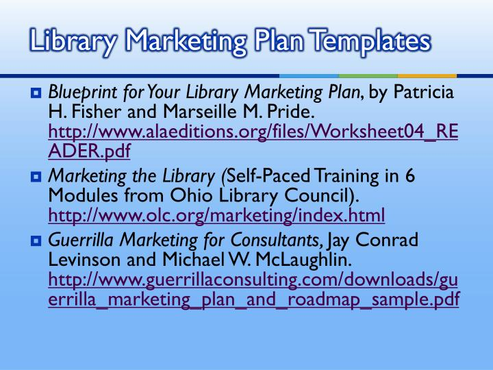 Library Marketing Plan Templates