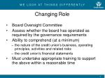 changing role