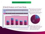 client analysis and case study