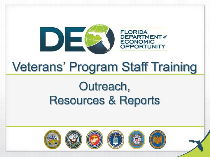 veterans program staff training outreach resources reports n.