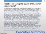 facebook is losing the loyalty of its original target market