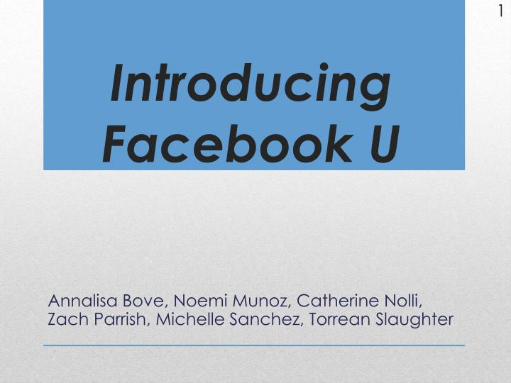 introducing facebook u n.