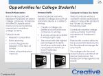 opportunities for college students