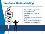 directional understanding