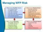 managing wfp risk