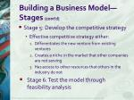 building a business model stages cont d2