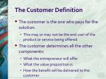 the customer definition