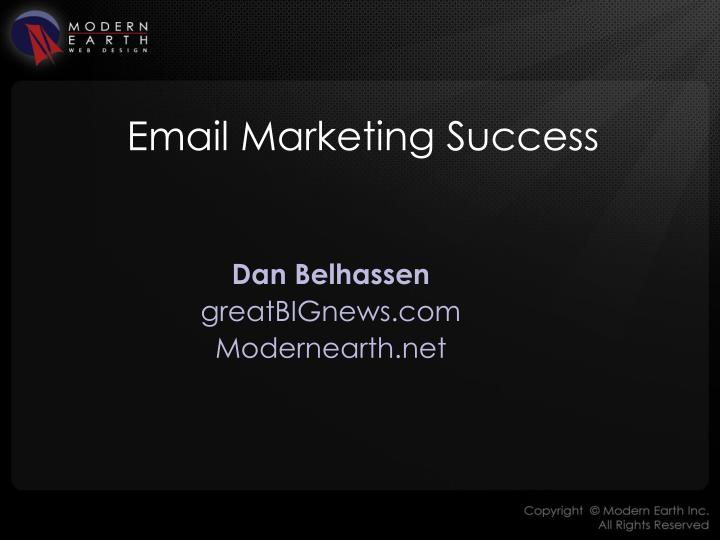email marketing success n.