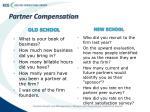 partner compensation