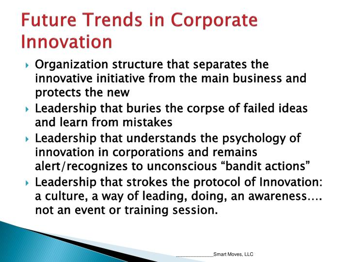 Future Trends in Corporate Innovation