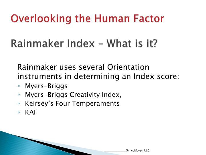 Overlooking the Human Factor