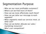 segmentation purpose
