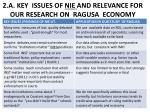 2 a key issues of nie and relevance for our research on ragusa economy