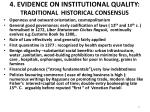 4 evidence on institutional quality traditional historical consensus
