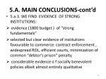 5 a main conclusions cont d