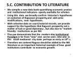 5 c contribution to literature