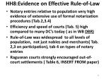 hh8 evidence on effective rule of law