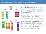 candidate generation based on visual features