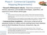phase ii commercial capability mapping requirements