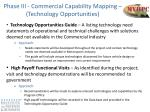 phase iii commercial capability mapping technology opportunities