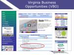 virginia business opportunities vbo