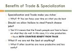 benefits of trade specialization
