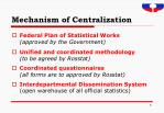 mechanism of centralization