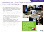 collaborating with tommy hilfiger on innovation