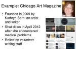 example chicago art magazine