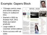 example gapers block