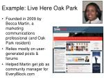 example live here oak park