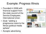 example progress illinois