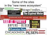 some of the sites in the new news ecosystem
