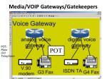 media voip gateways gatekeepers