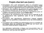 projets chez bell labs cont