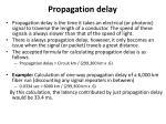 propagation delay