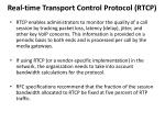real time transport control protocol rtcp