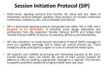 session initiation protocol sip1