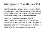 management of working capital1