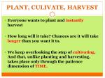 plant culivate harvest