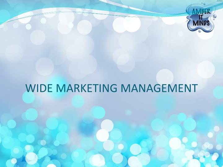 wide marketing management n.