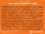 card logistics management team1
