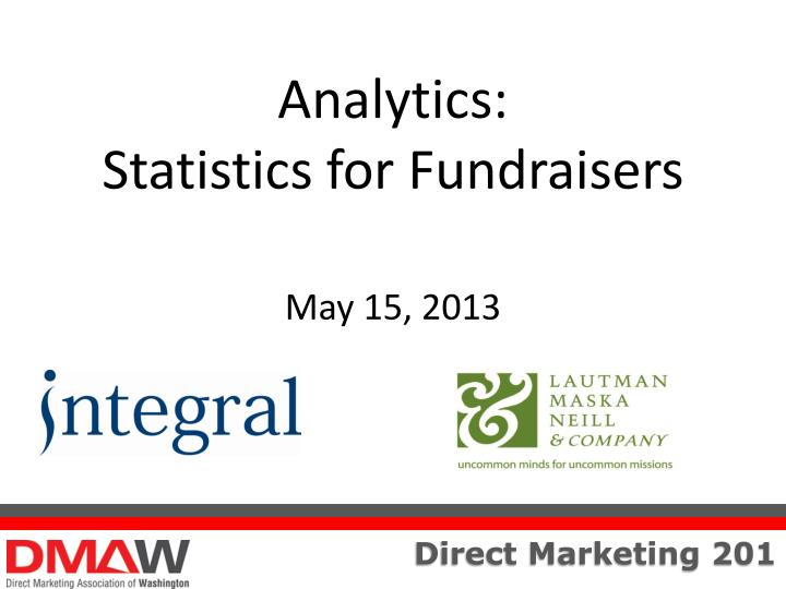 analytics statistics for fundraisers may 15 2013 n.