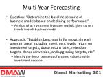 multi year forecasting