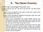 8 tax haven country